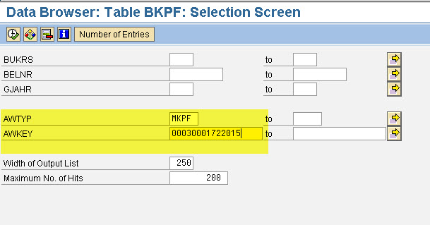 Accounting document against Material document – GANESH SAP SCM