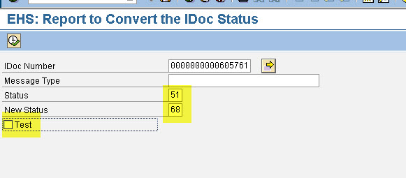 Idoc coversion status 3