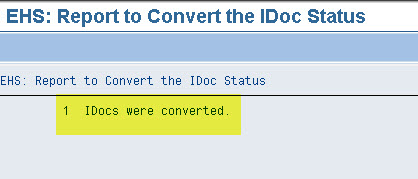 Idoc coversion status 4