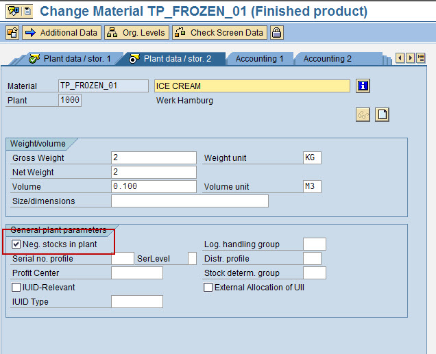 Give few points about Negative Stocks in SAP Inventory